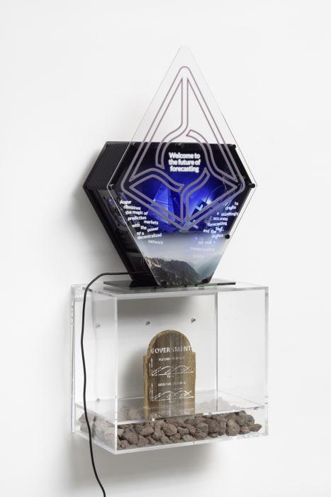Blockchain Future State Fintech Gamer Case Mod Deal Toy: Augur x Ethereum by Simon Denny
