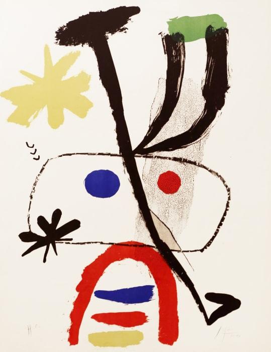 Personatge amb estrelles by Joan Miró