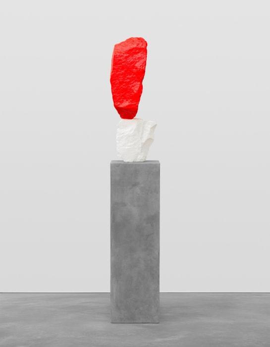 red white mountain by Ugo Rondinone