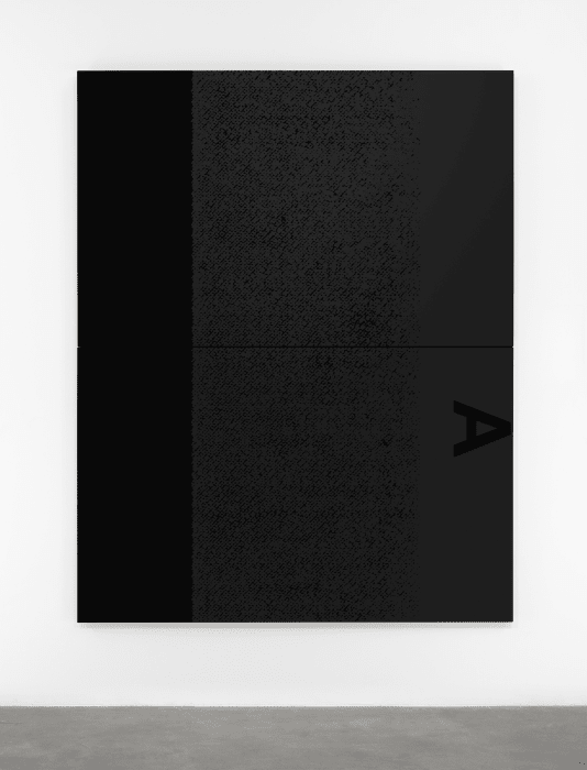 Black Dada/ Column (A) by Adam Pendleton
