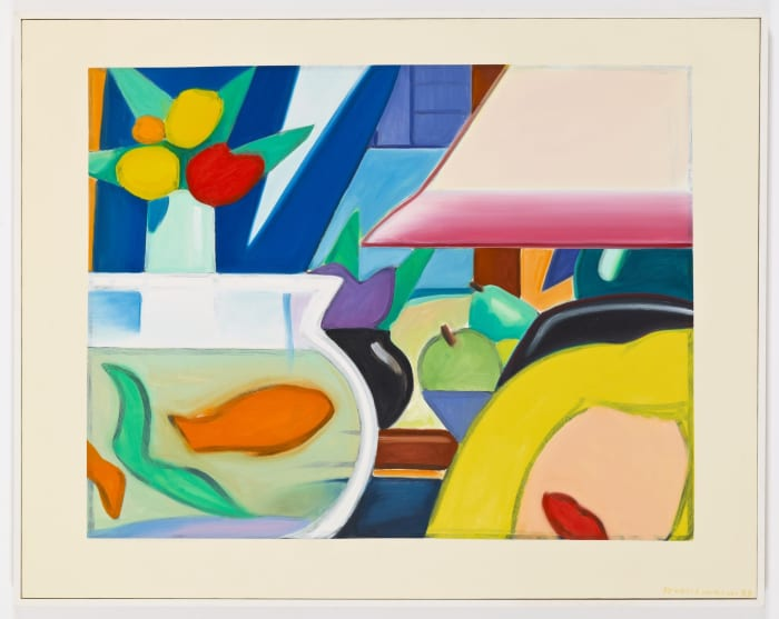 Still Life with Blonde (Blue Curtain) by Tom Wesselmann