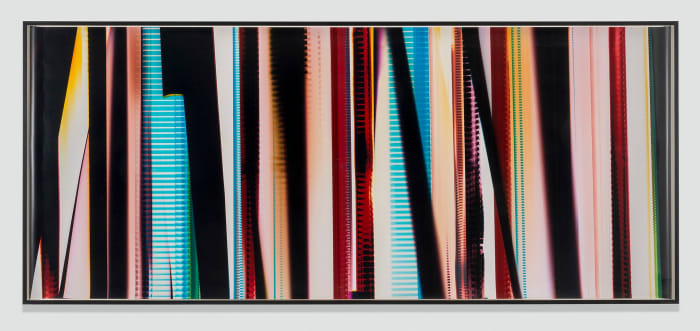 RA4 Contact Print [Black Curl (CMY/Six Magnet: Los Angeles, California, December 19, 2013, Fuji Color Crystal Archive Super Type C, Em. No. 101-007, 44313), Kreonite KM IV 5225 RA4 Color Processor, Ser. No. 00092174] by Walead Beshty