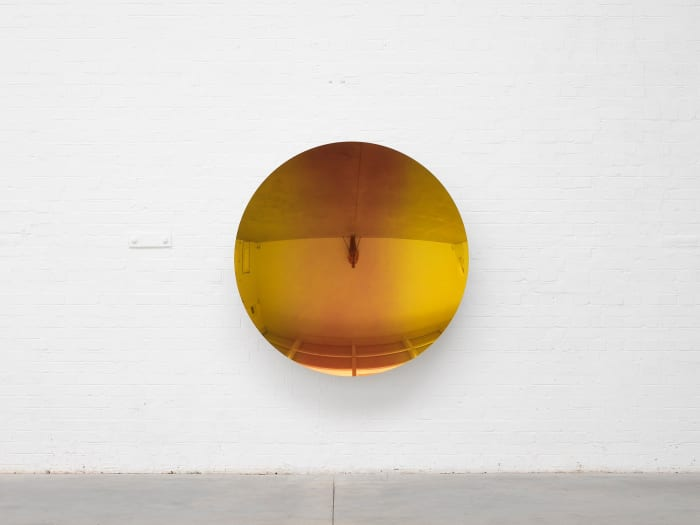 Mirror (Pagan Gold to Orange to Pagan Gold) by Anish Kapoor