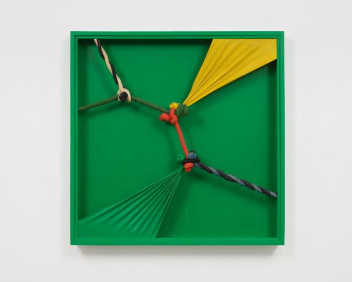 Quipus vert - 3 by Jorge Eielson