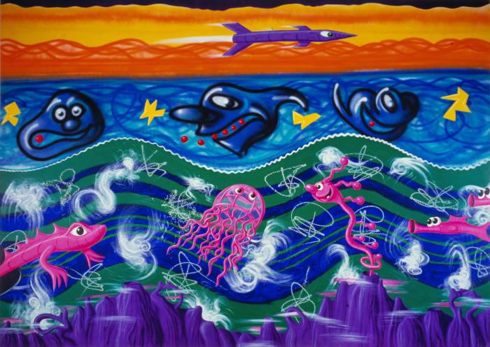Underagua by Kenny Scharf