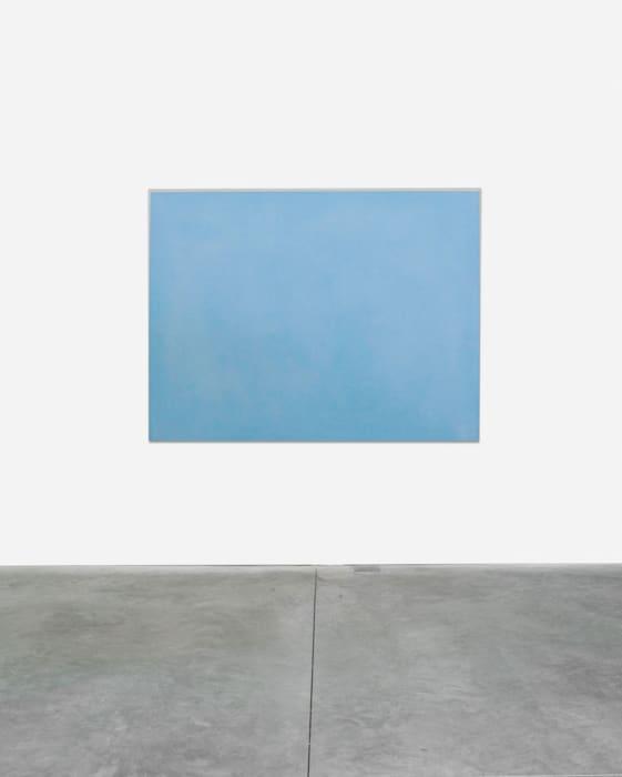 Azzurro cobalto, argento by Ettore Spalletti