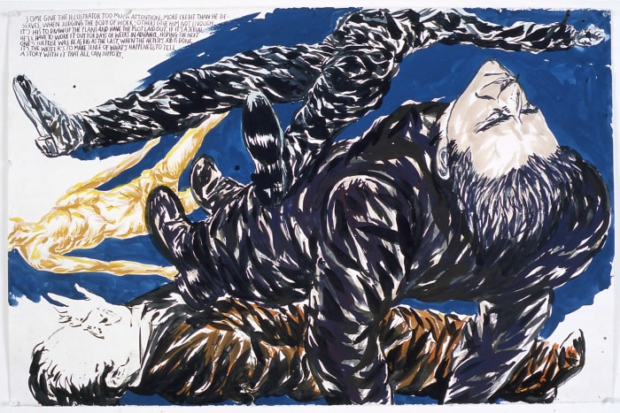 No Title (Some give the...) by Raymond Pettibon