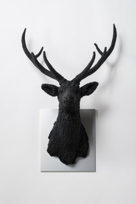 Villus-Deer(Black) by Kohei Nawa