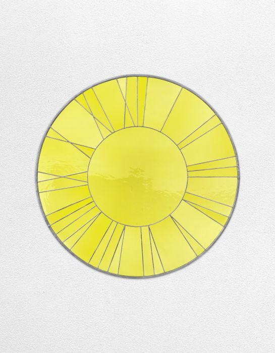 Yellow Clock by Ugo Rondinone