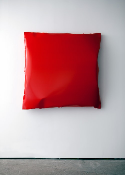Battered 4 (Red) by Angela de la Cruz
