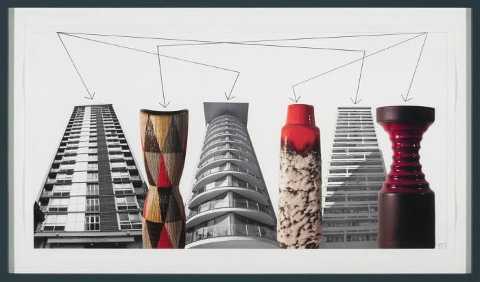 Buildings and Vases Still Life No. 4 by Stephen Willats