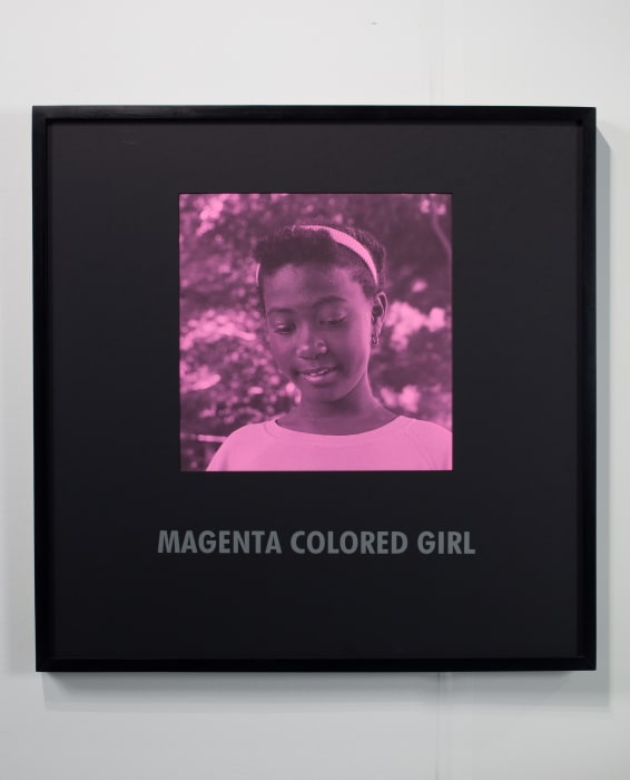 Magenta Colored Girl by Carrie Mae Weems