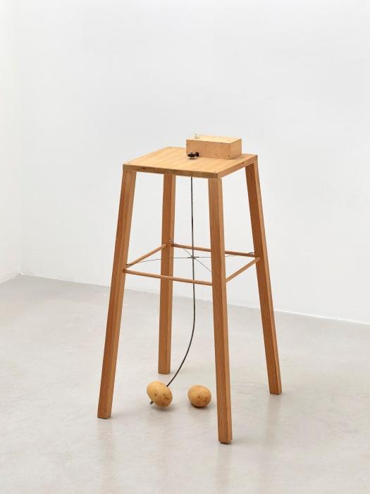 Apparat, mir dem eine Kartoffel eine andere umkreisen kann by Sigmar Polke
