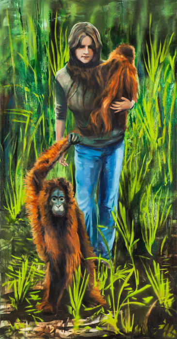 Escaping the Borneo Jungle by Paulina Olowska