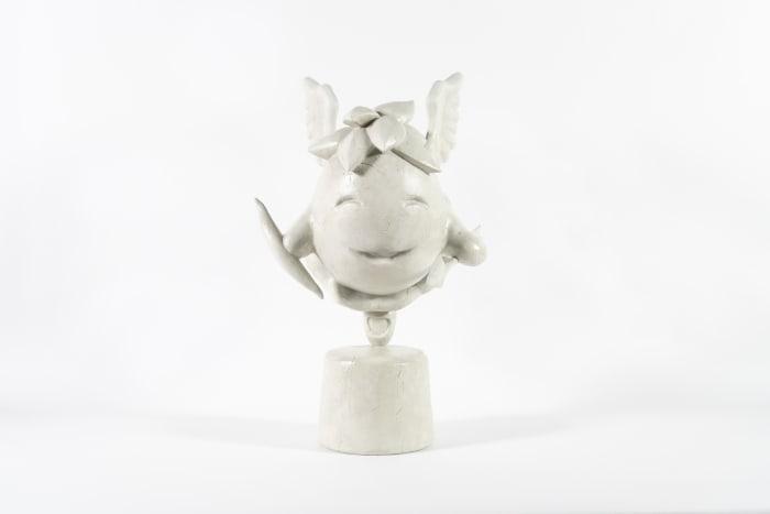 Chia Statue (original grey) by Bunny Rogers