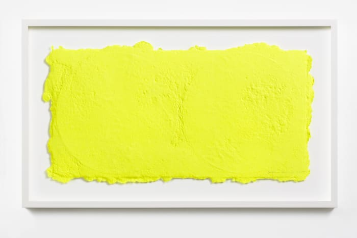 Yellow on Two Vinyls 1 by Shinro Ohtake