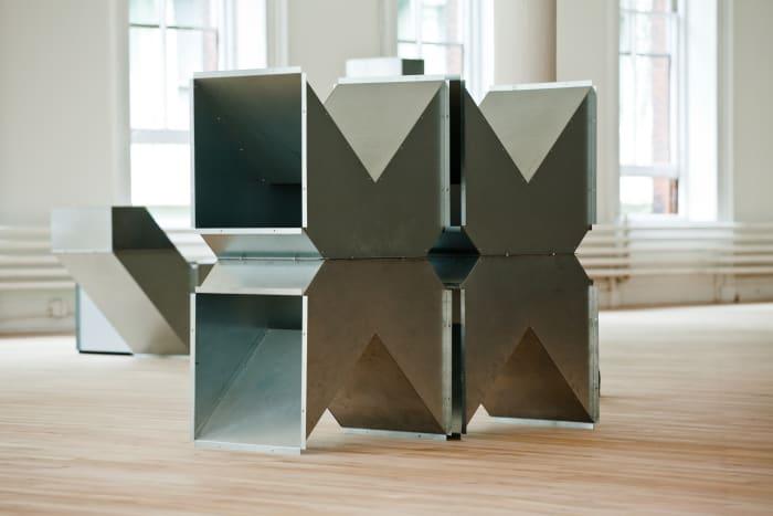 Square Tubes Series D by Charlotte Posenenske
