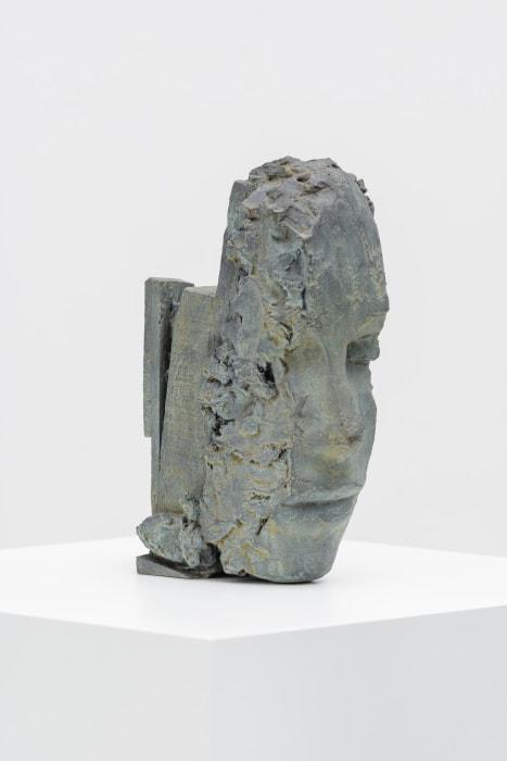 Untitled Bronze Head by Mark Manders