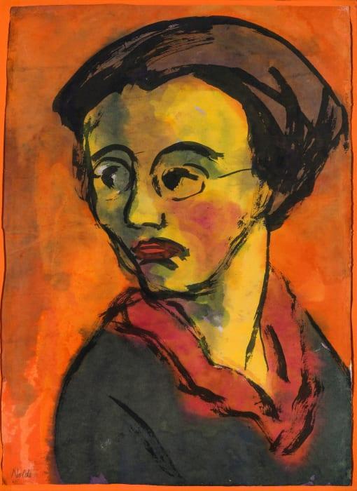 Portrait - Johanna Schiefler by Emil Nolde