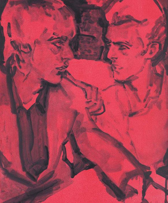 Berlin (Iggy and David) by Elizabeth Peyton