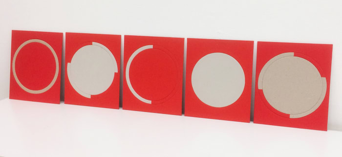 Arquibaba (Red and White, circles) by Odires Mlászho