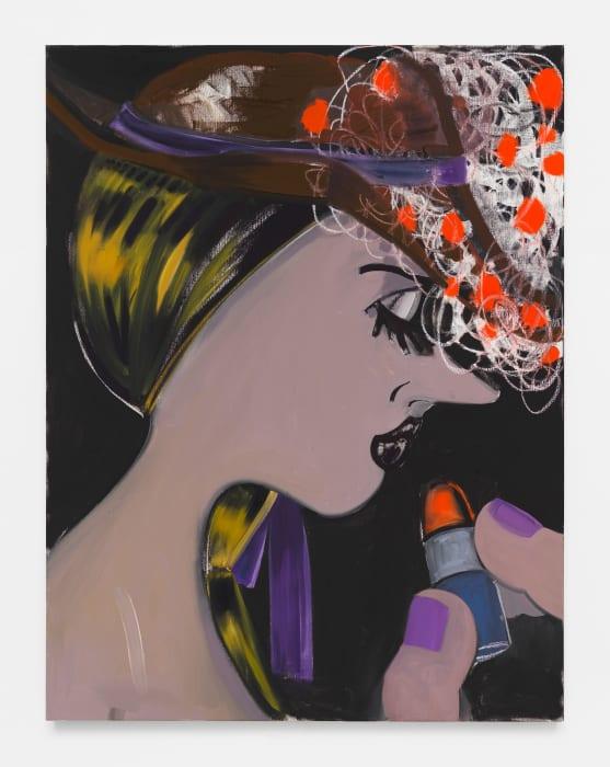 Geranium Hat by Ellen Berkenblit