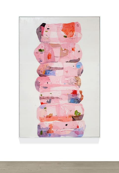 Untitled - consumption stacks, pink by Hugo McCloud