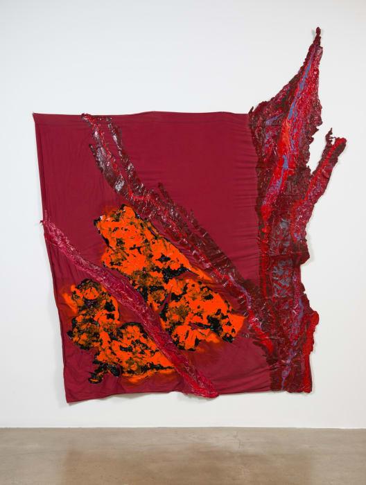 nebula; orange by Rodney McMillian