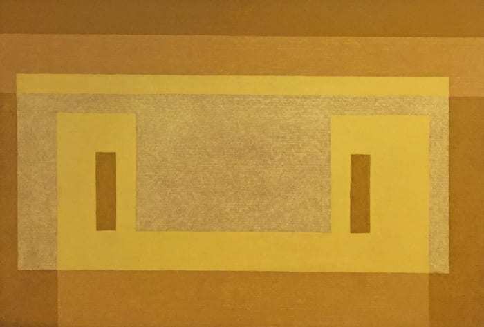 (Variant: Pale Yellow Façade) by Josef Albers