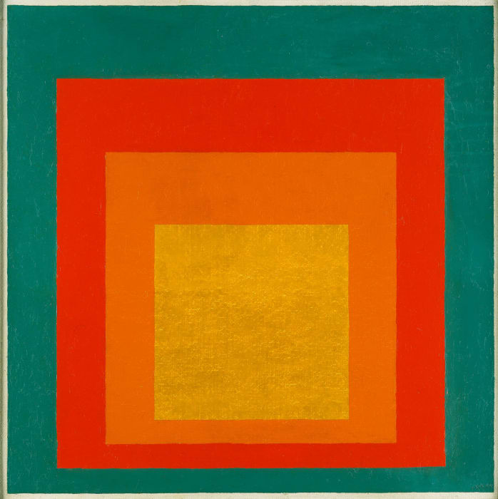 """Study for Homage to the Square: """"Persistent"""" by Josef Albers"""