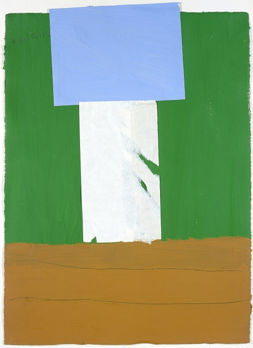 In Green, with Ultramarine and Ochre by Robert Motherwell