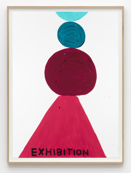 Untitled (Exhibition shapes) by David Shrigley