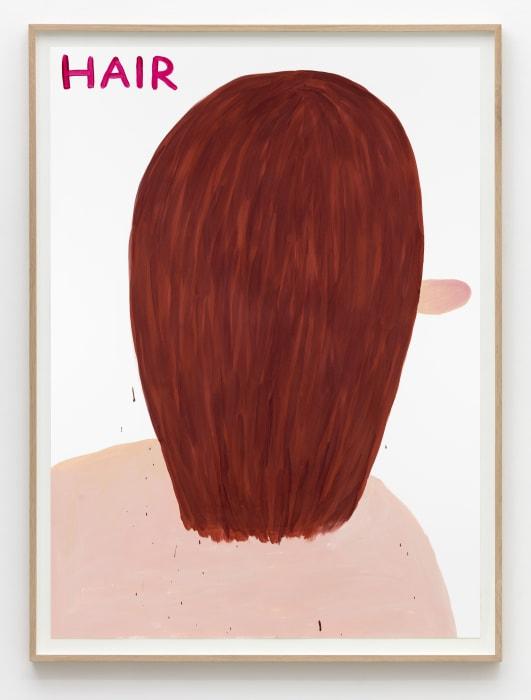 Untitled (Hair) by David Shrigley