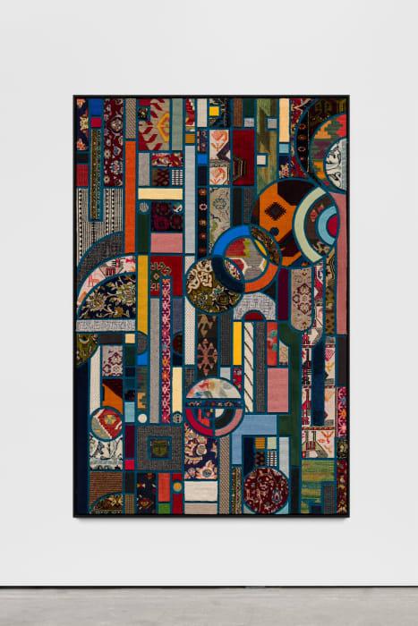 Social Fabric, petrol #2 by Nevin Aladag
