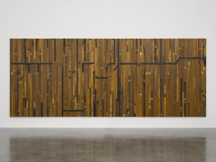 Ground Rules (black line) by Theaster Gates