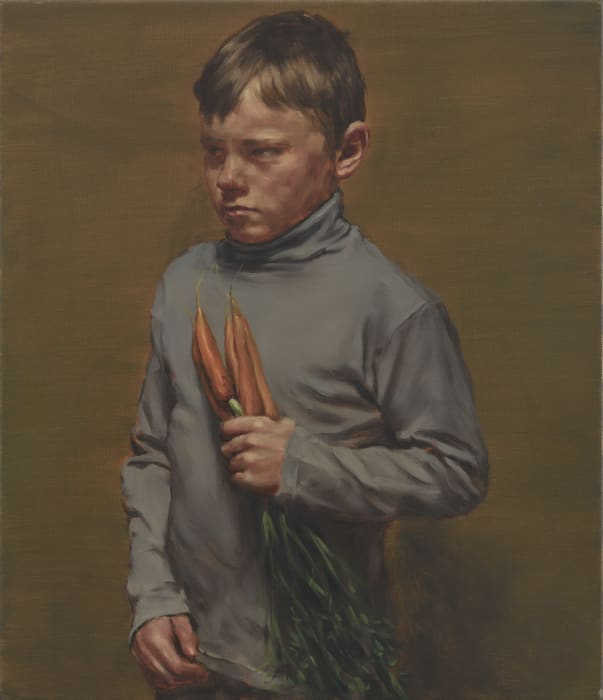 Boy with Carrots by Michaël Borremans