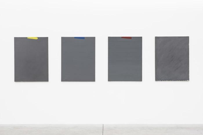 Tegendraads (Quadriptych) by Raoul De Keyser