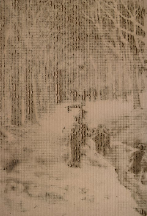 Untitled (After Hidalgo,  Grove of Trees, painting) by Jill Paz