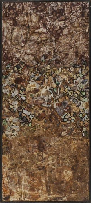 Lit de debris au pied du mur by Jean Dubuffet