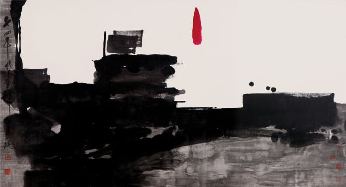 Zen Painting A74-3 by Shou-kwan Lui