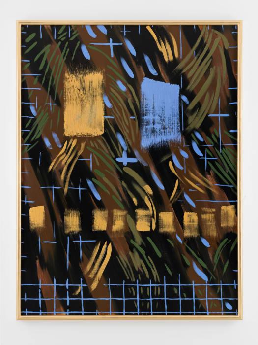 Blue Grid, God, Palm by Elisabeth Frieberg
