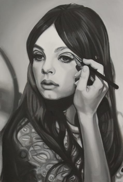 Girl painting by Lena Johansson