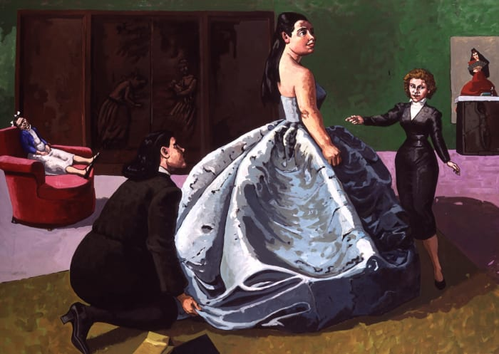 The Fitting by Paula Rego