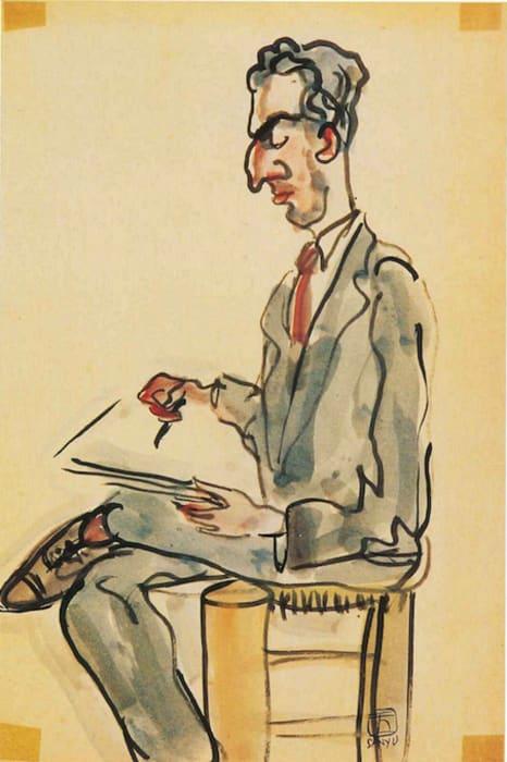Man Sketching by San yu