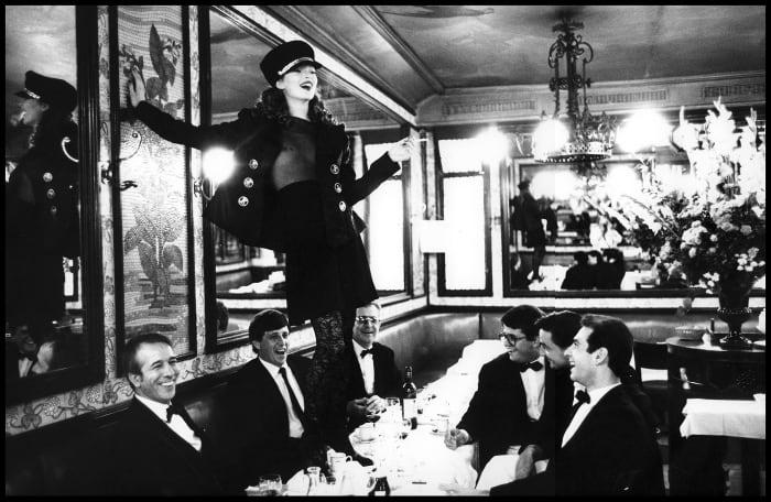 Kate Moss Cafe Lipp by Arthur Elgort
