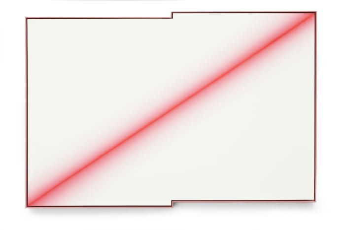 The Fuzzy Fluorescent Red  Diagonal by Wenji Chen