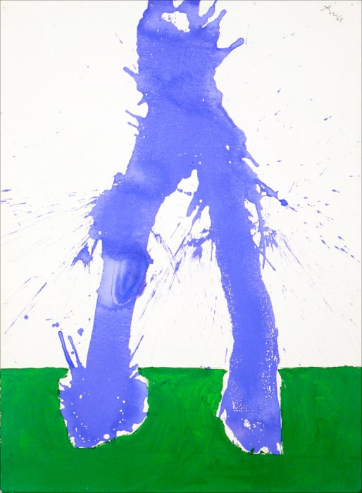 Study in Watercolour No. 6 (In Green and Blue) by Robert Motherwell