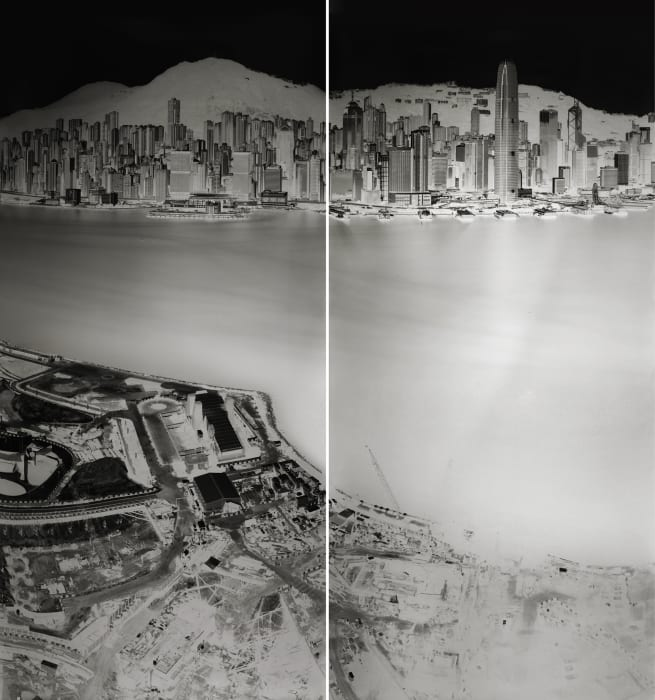 To see Hong Kong Island from Kowloon 19-20 July 2016 (diptych) by Shi Guorui