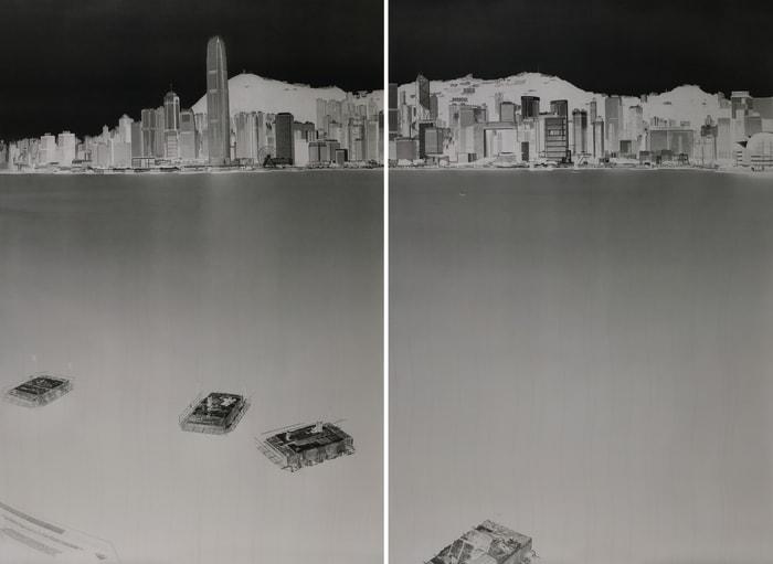 Avenue of Stars, HK 2-3 July 2016 (diptych) by Shi Guorui
