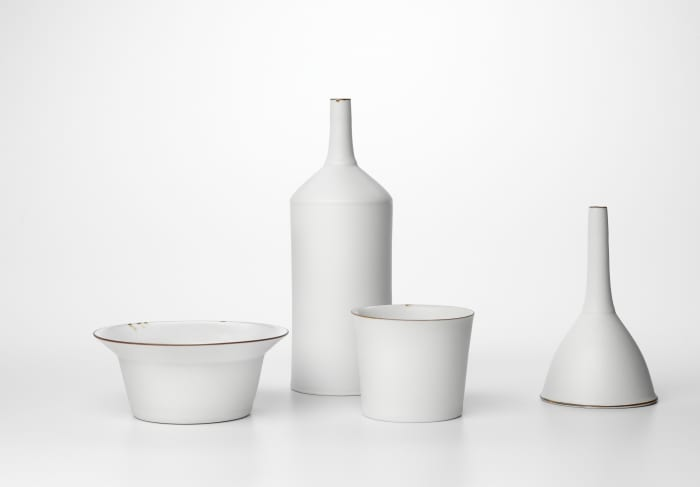 Oil, can, bowl, cup and funnel by Kirsten Coelho
